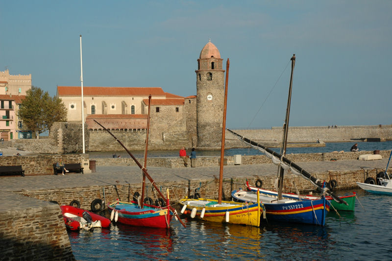 view from the pier of Collioure
