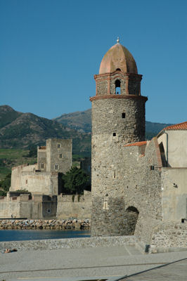 Le clocher de Collioure et le château royal